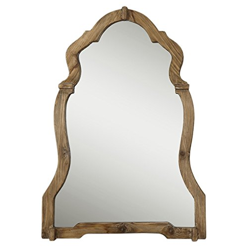 queen anne mirror white kathy kuo home saint rustic queen anne walnut wood mirror amazoncom