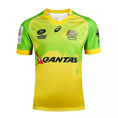 DUOLANG Cotton Fashion AUSTRALIAN SEVENS RUGBY JERSEY - Australian Rugby