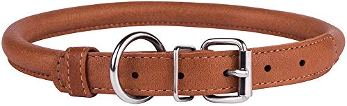 Pictures of CollarDirect Rolled Leather Dog Collar Soft Padded 5