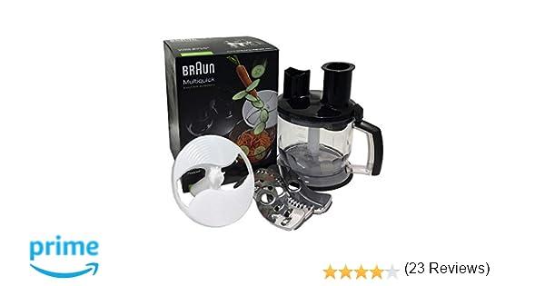 Braun Minipimer MQ70 Accesorio procesador de alimentos, 2 herramientas para triturar, 1.5 L, acero inoxidable, plástico, negro