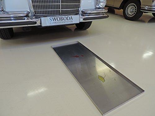 Veteranicar Tropfblech lang Ö lauffangwanne ca.115x40x2cm Aluminium Silber