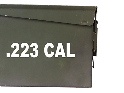 FGD .223 cal ammo box Label Set (DECALS) two 6.51