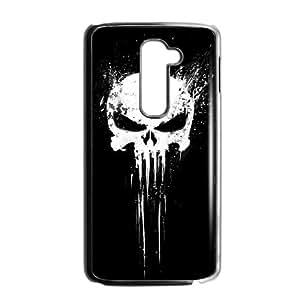 LG G2 Cell Phone Case Black Bloody The Punisher Skull Logo Oxyy