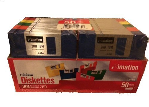 imation 50 ct Rainbow Diskettes IBM 2HD 1.44MB (Discontinued) by Imation
