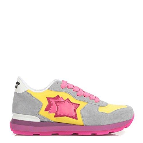 Atlantic Stars - Zapatillas de Piel para mujer amarillo amarillo/gris