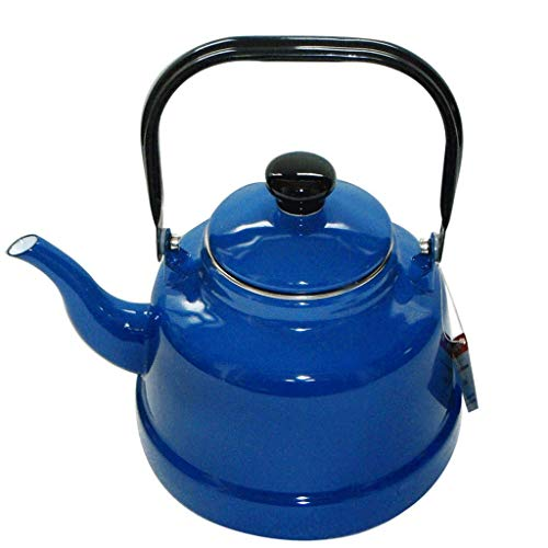 Blue Enamel 3.3L Kettle European Gas Gas Cooker Household Large Capacity 304 Stainless Steel Kettle Kettle Hand-made Each Product Is Unique (Blue Enamel Due)