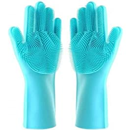 ABI® Cleaning Solutions Multipurpose Magic Silicone Dish Washing Hand Gloves for Cleaning, Kitchen, Car, Bathroom and…