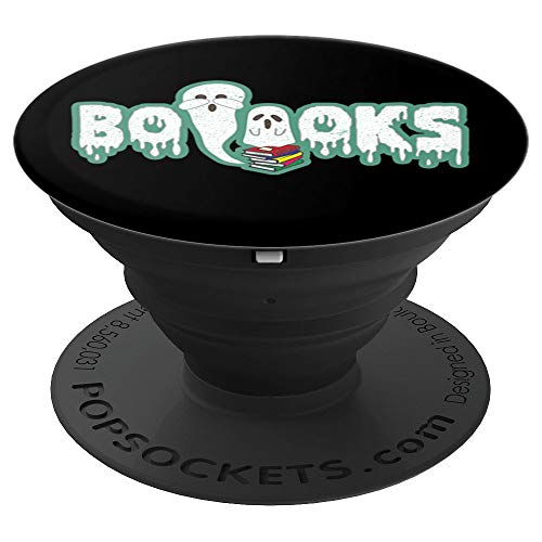 Booooks! - Scary Book Reading Costume Halloween Funny Gift PopSockets Grip and Stand for Phones and Tablets -
