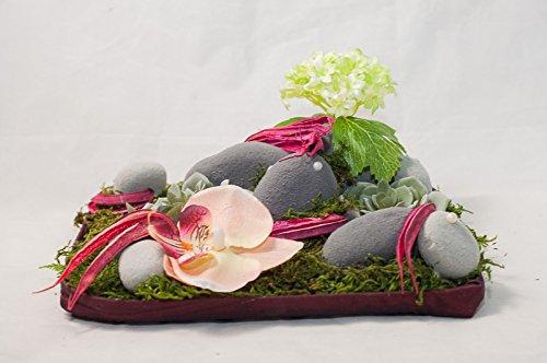 Tischgesteck Mit Lachsfarbenen Phalaenopsisbluten Tischdeko Mit
