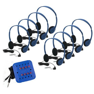 - HamiltonBuhl Kids Listening Center with 8 Personal Headphones and Jackbox