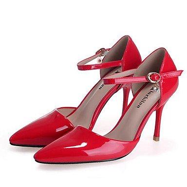 à Cuir Blanc ggx Talons nude Chair Rouge LvYuan Printemps Chaussures Plat de Cuir Croûte Femme pwaXpqt