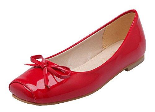 Amoonyfashion Femmes Chaussures À Semelles Compensées En Cuir Verni