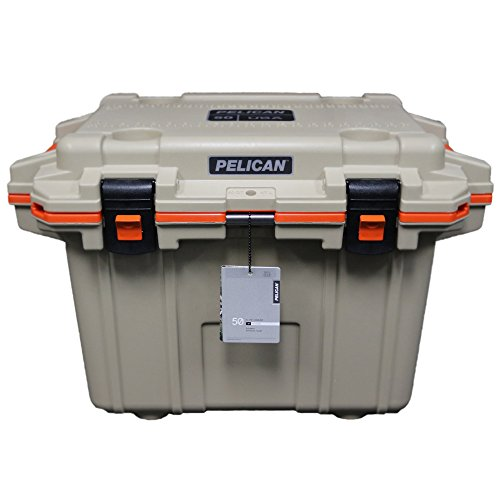 Marine Chest Cooler, Tan/Orange, Cap.50qt.