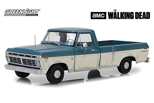 1973 Ford F-100 Ranger XLT Pickup Truck, The Walking Dead - Greenlight 12956 - 1/18 Scale Diecast Model Toy Car (Toy Ranger Truck Ford)