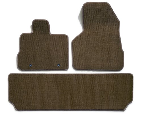 Taupe Rear Mat - Premier Custom Fit 3-piece Set with 2 Front and 1 Rear Carpet Floor Mats for Chevrolet and GMC (Premium Nylon, Taupe)