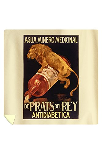 De Pratts del Rey - Antidiabetica Vintage Poster Spain (88x88 Queen Microfiber Duvet Cover) by Lantern Press