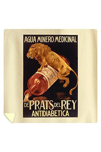 De Pratts del Rey - Antidiabetica Vintage Poster Spain (88x88 Queen Microfiber Duvet Cover) by Lantern Press
