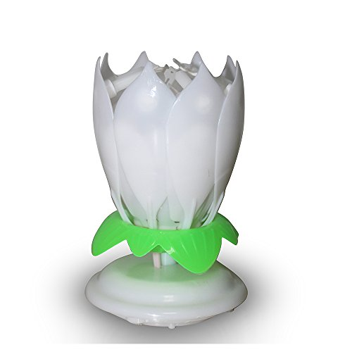 Easy Gift R The Amazing Happy Birthday Candle Romantic Musical Flower Party Light Intelligent Decorative Cake Candles With 14 White