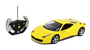 amazon com yellow licensed 1 14 scale ferrari 458 italia radio
