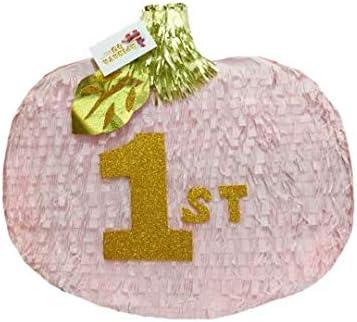 Amazon.com: APINATA4U - Pinata de calabaza rosa y dorada ...