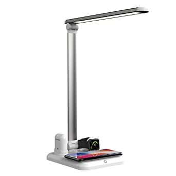 10W f/ür Galaxy S8//S7//Note 8 alle Qi-f/ähigen Ger/äte LED Schreibtischlampe TaoTronics Tischlampe mit kabelloser Ladestation Qi kompatibel Wireless Charger 7.5W Schnellladeger/ät f/ür iPhone X//8//8 Plus