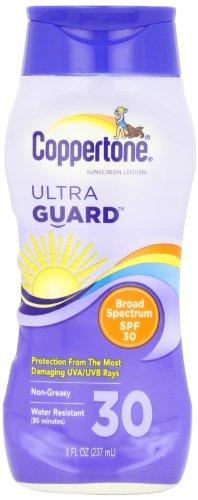 Coppertone UltraGuard Lotion écran solaire UVA / UVB Protection, FPS 30, de 8 onces Bouteille