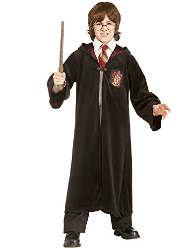 Harry Potter Gryffindor Robe Child Costume, Large, Black]()