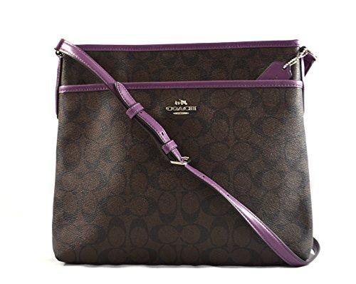 Coach Signature File Crossbody Bag Purse Handbag (Brown Berry) by Coach