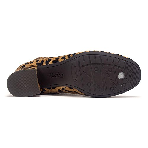 Earthies Donna Apollo Stivale Marrone Multi Pelle Stampa Leopardo