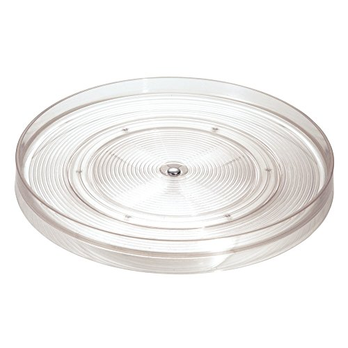 "InterDesign Linus Lazy Susan Cabinet Turntable - Organizer Tray for Kitchen Pantry or Countertops - 11"", Clear"