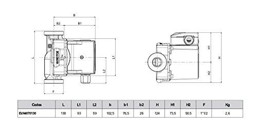 DAB Cylindre Mod/èle Evosta 2 A Rotor Bagu/é 40-70//130 Attache 1