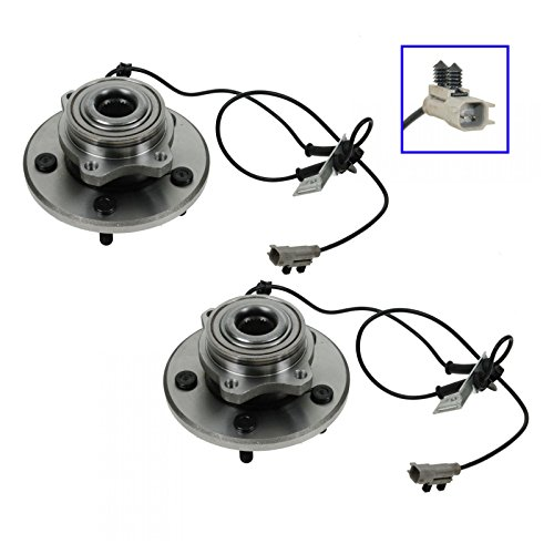 Front Wheel Hubs & Bearings Pair Set for 04-06 Chrysler Pacifica w/ABS