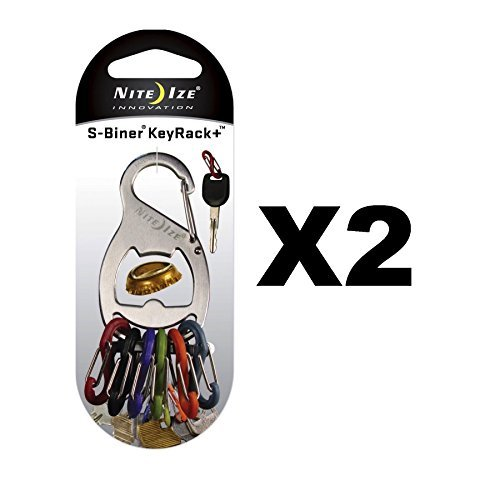 Nite Ize S-Biner Key Rack And Bottle Opener Stainless Steel by Nite Ize