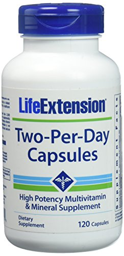 Life Extension Two Per Day High Potency Multivitamin & Mineral Supplement, 120 Capsules (Life Extension Multi)