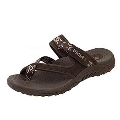 a0ce4fef48ee Skechers Reggae Trailway Chocolate Brown Women s Sporty Comfort Sandals   Amazon.co.uk  Shoes   Bags