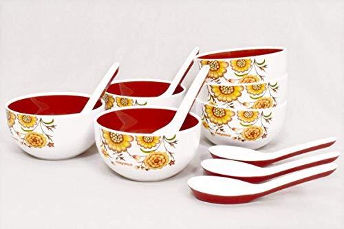 Nayasa Round Bowl Soup Set Of 18Pcs
