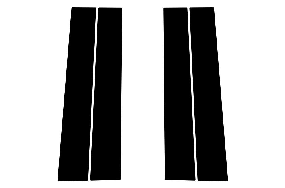Matte Black Factory Crafts GMC Sierra 2014-2017 Door and Window Pillars Graphics 3M Vinyl Decal Wrap Kit