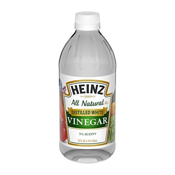 Heinz Distilled White Vinegar, 16 fl oz 4 Premium distilled white vinegar for all your recipe needs Sourced from sun-ripened corn All-Natural Ingredients