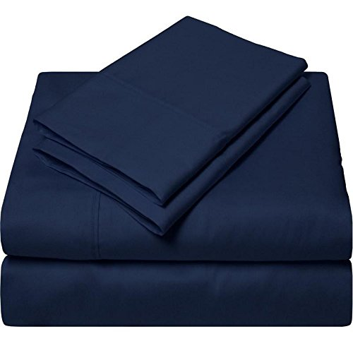 (USA Bedding Limited Period Offer Solid Pattern 550 Thread Count Egyptian Cotton 4-Pieces Sheet Set Fits Mattress 22-24