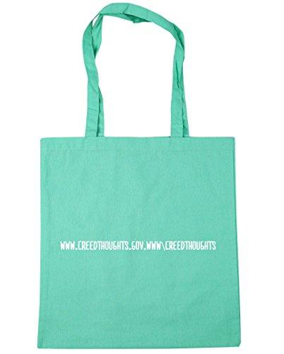 HippoWarehouse - Bolsa de playa de Algodón  Mujer verde menta