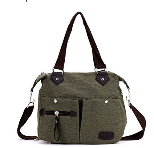 Retro Bag Handbag Women Canvas Shoulder Bag, Armygreen Network