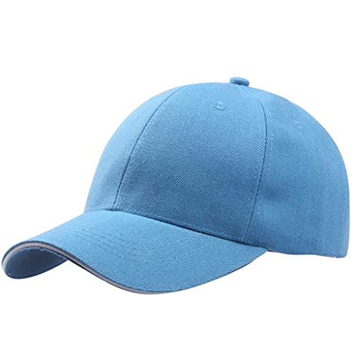 Toppers Classic Visor Hat - CofeeMo Solid Color Baseball Caps, Unisex Cotton Classic Baseball Hat Low Profile Plain Dad Hats(Sky Blue)