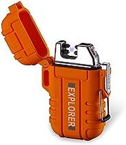 Dual Arc Lighter Double Arc Plasma USB Lighter Rechargeable Flameless Waterproof Stormproof Windproof Mini Ele