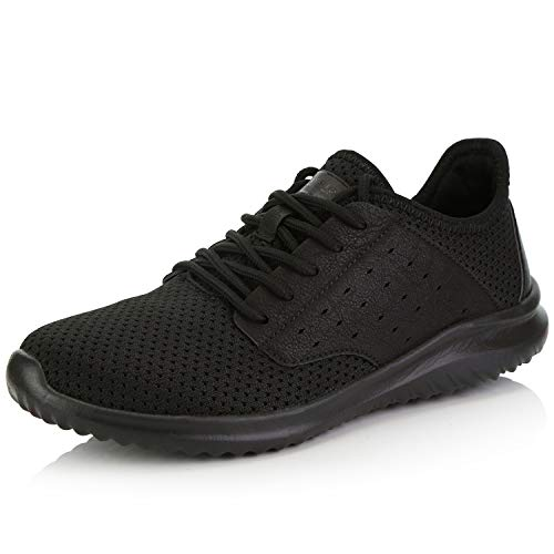 DailyShoes Women's Sneakers Running Shoes Walking Cross Training Sneakerss Perforated Lightweight Trainers Fashion Light Breathable Comfort Athletic All,Black,mesh,7