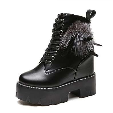 Amazon.com   LVYING Winter Motorcycle Boots Women Autumn