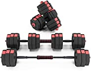 sogesfurniture Adjustable Dumbbells Set 66 pounds with Connector, Free Weights Set Dumbbells, Anti Rolling Fit