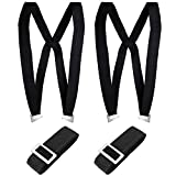 Shoulder Moving and Lifting Straps - 2 Person Adjustable Harness Strap for Furniture Bed ApplianceMattress Or Heavy Objects- Black
