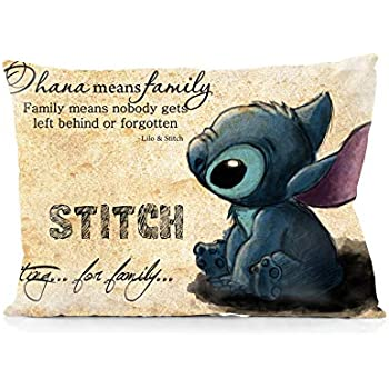 Amazon.com: Pillow Cover Cushion Cover Lilo and Stitch ...