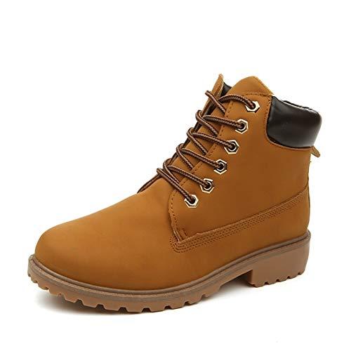 (Cute Cat Warm Boots Women Family Christmas Cotton Winter Shoes Women Boot Yellow)