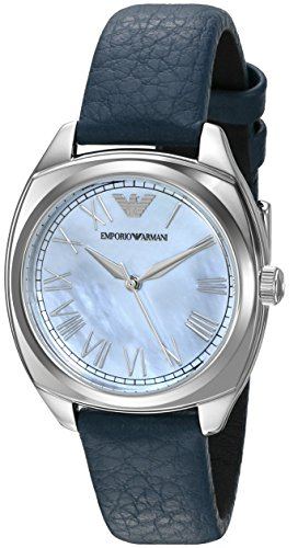 Emporio Armani Women's AR1953 Fashion Blue Leather Watch